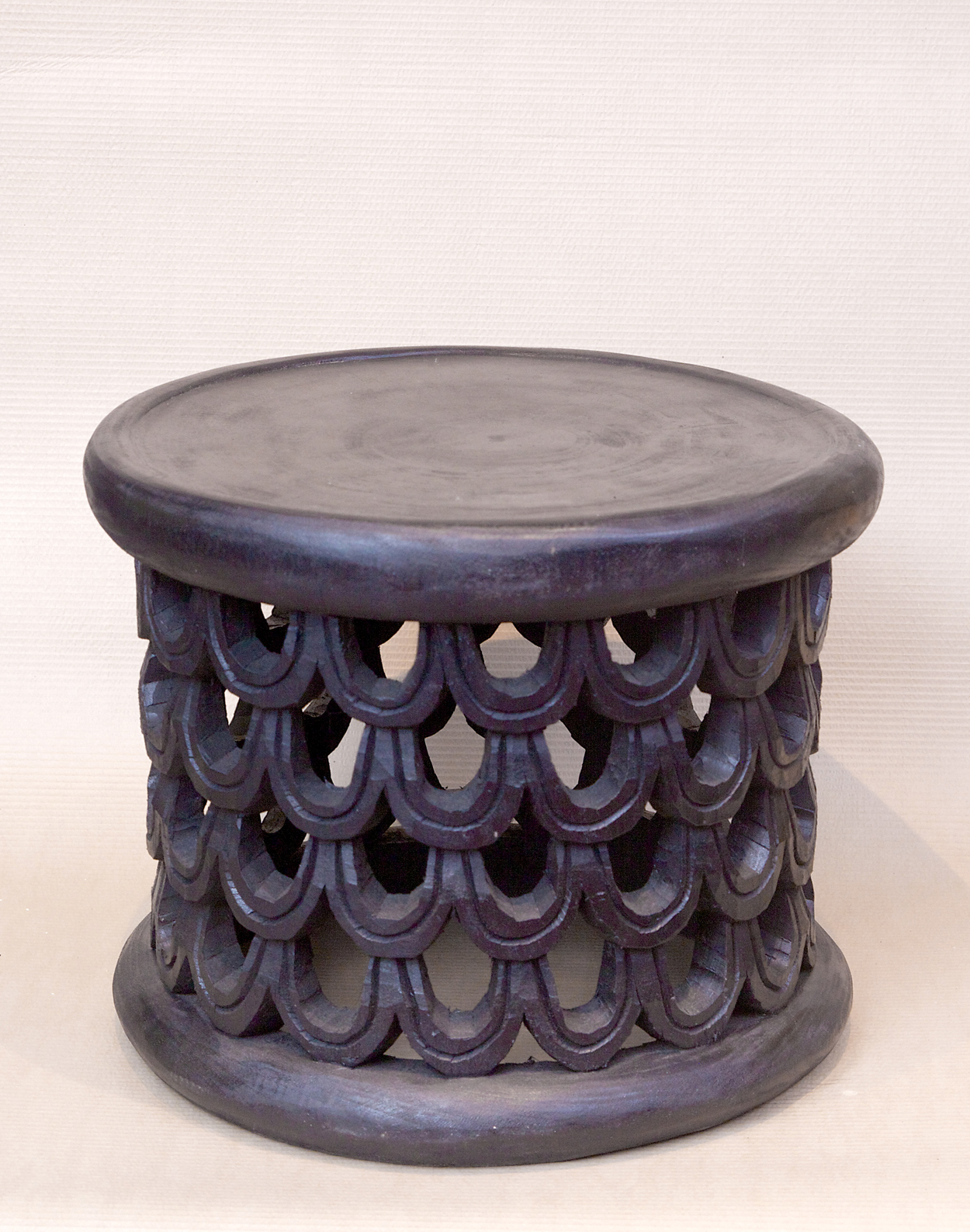 Code: AFR4779 Cameroon Stool Size: 55 X 55 X 44 Cm
