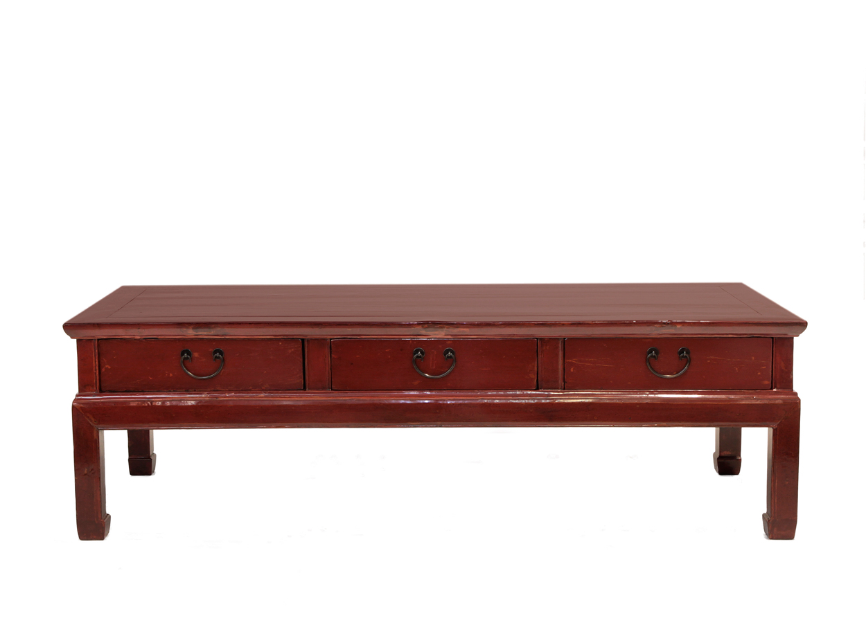 Red 3 drawer coffee table orient house 3 drawer coffee table geotapseo Choice Image