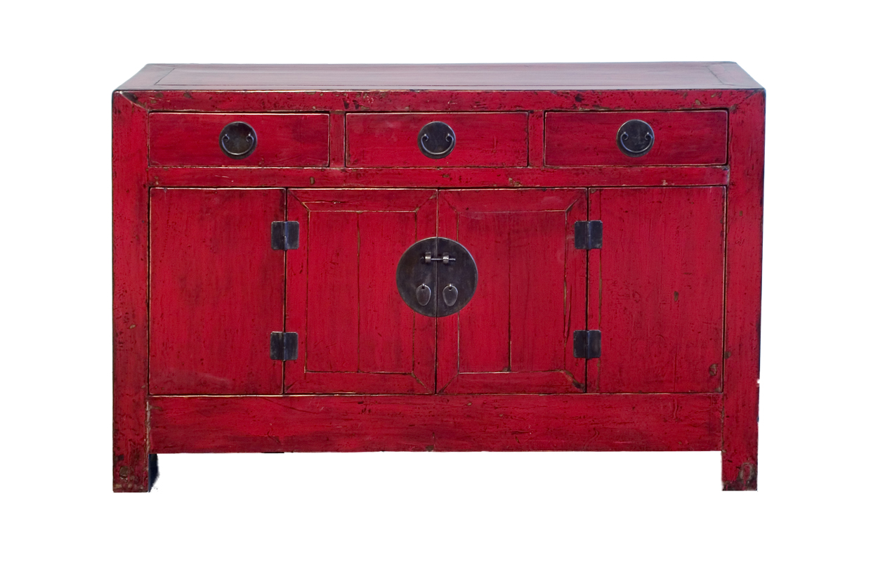 red lacquer cabinet orient house