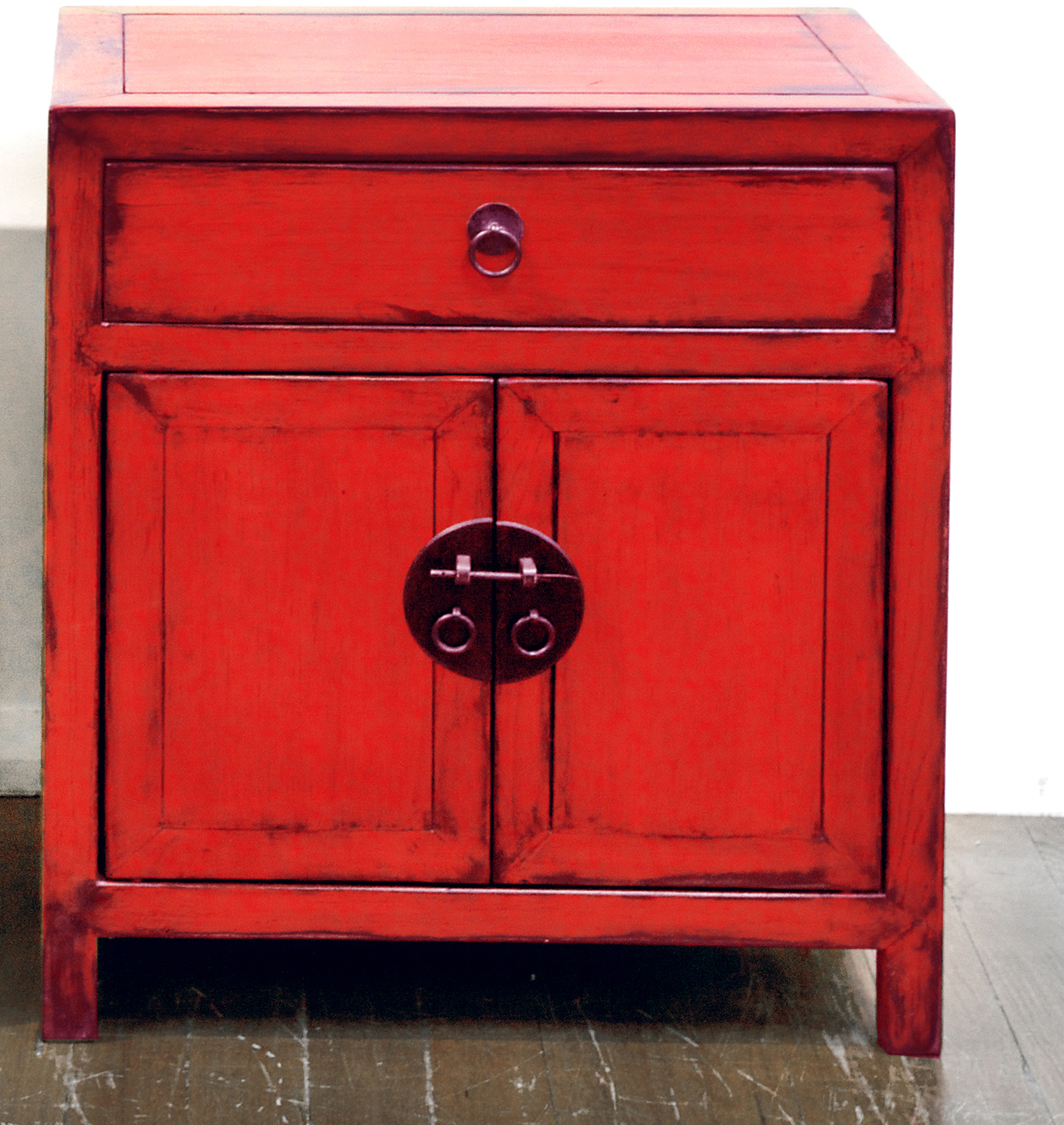 Antique Red Kitchen Cabinets: Red Lacquer Side Cabinet