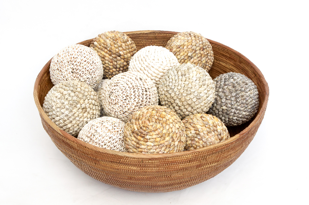 decorative balls for bowls Round Atta Bowl /Assorted Shell Balls | Orient House decorative balls for bowls