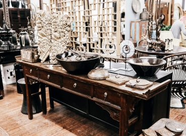 Chinese 4 Drawer Table | African Bowls | Indian Decoration