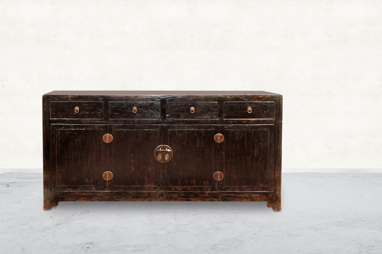 Picture of: Four Drawer Black Antique Chinese Buffet Beijing Orient House