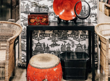 SHOE BOX | CONSOLE | RED SHANXI DRUM