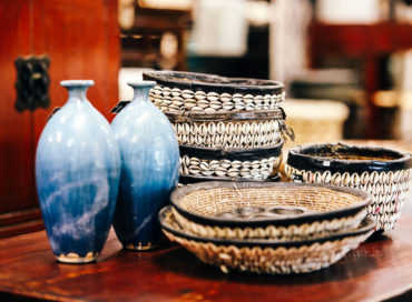 HAUSA BASKETS | BLUE STRIE VASES
