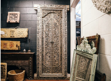 CARVED DOOR | CONSOLE | STONE PANEL | PELAM PUNG | CANDLESTAND