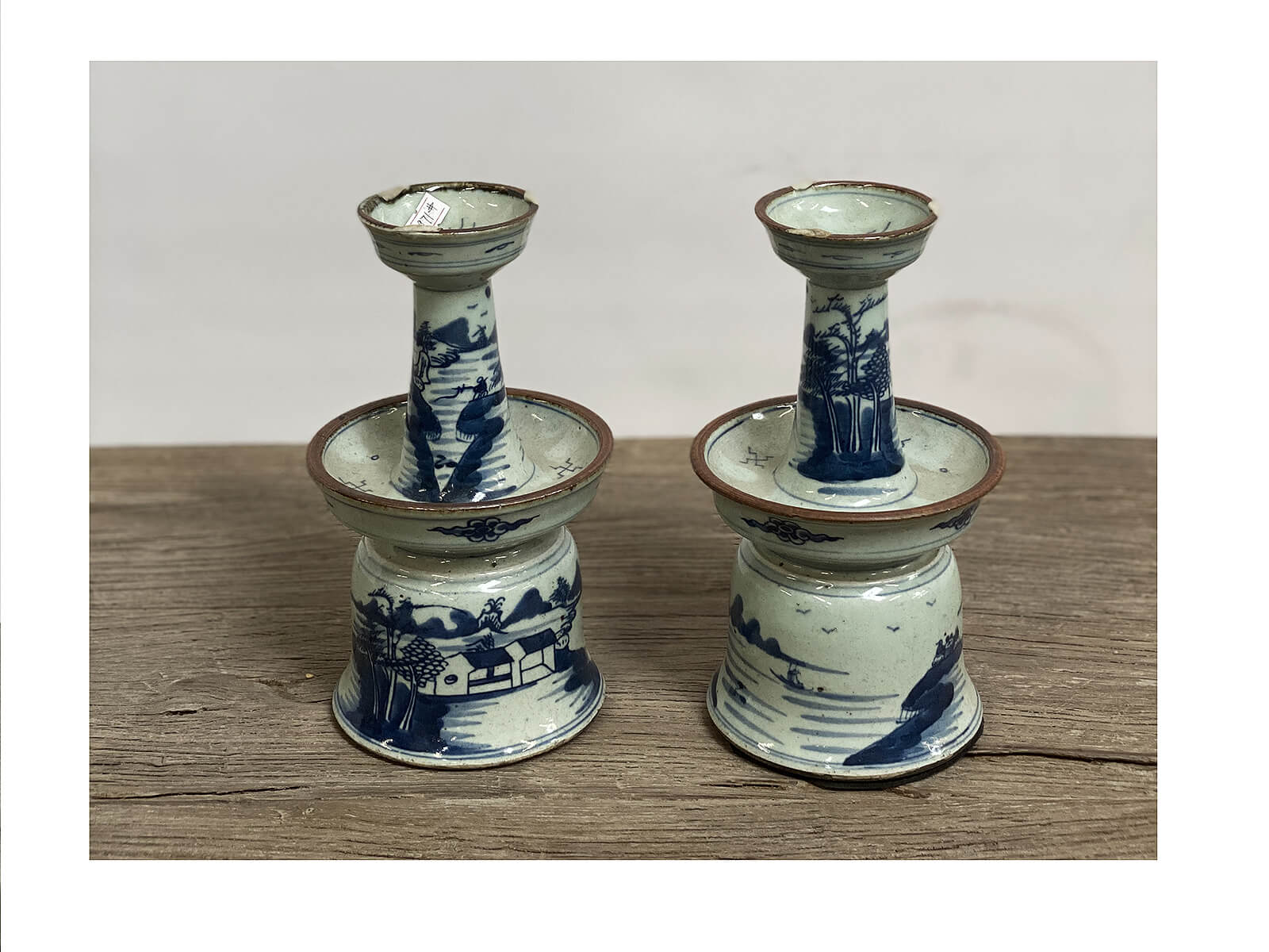 Blue & White Candle Holder